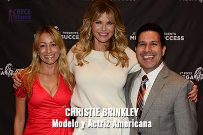 Alejandro Illera con Christie Brinkley