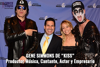 Alejandro Illera con Gener Simmons