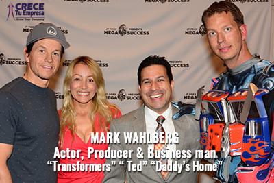 Alejandro Illera con Mark Wahlberg